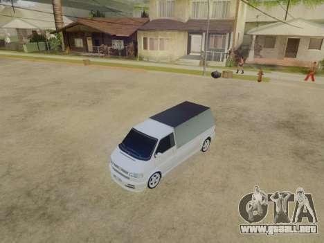 Volkswagen T4 Caravelle 35 Taza (1997) [Вездеход para GTA San Andreas vista hacia atrás