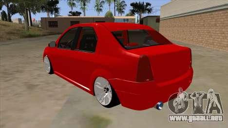 Dacia Logan para GTA San Andreas vista posterior izquierda