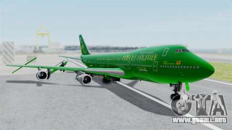 Boeing 747-100 Grove Street para GTA San Andreas