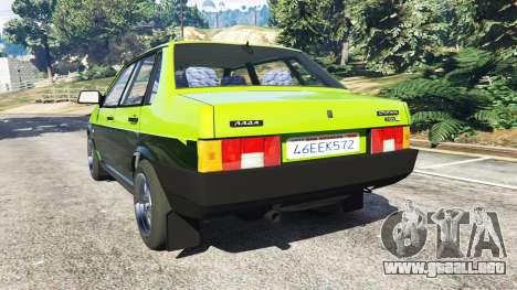GTA 5 VAZ 21099 vista lateral izquierda trasera