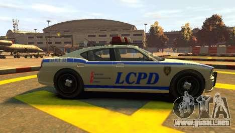 Bravado Buffalo Police Patrol [original wheels] para GTA 4 left