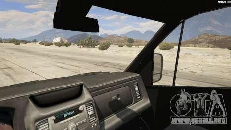 GTA 5 Mercedes-Benz Sprinter Worker Van vista lateral trasera derecha