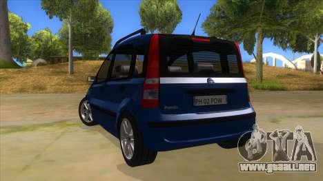 Fiat Panda V3 para GTA San Andreas vista posterior izquierda
