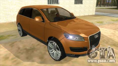 Audi Q7 para GTA San Andreas vista hacia atrás