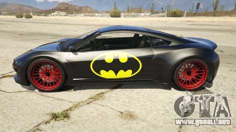 GTA 5 Batman Jester vista lateral izquierda