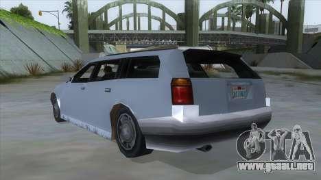 GTA LCS Sindacco Argento para GTA San Andreas vista posterior izquierda