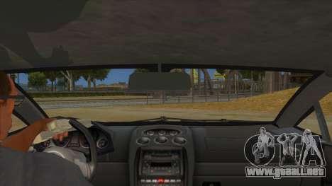 Lamborghini Gallardo 2012 Edition para visión interna GTA San Andreas