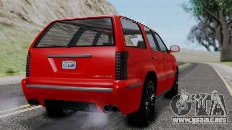 GTA 5 Albany Cavalcade v2 para GTA San Andreas left