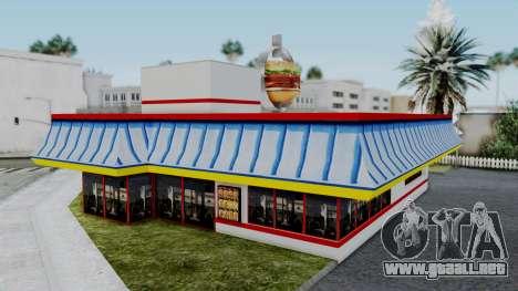 Burger King Texture para GTA San Andreas tercera pantalla