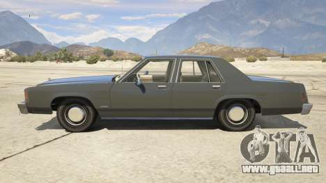 GTA 5 1987 Ford LTD Crown Victoria vista lateral izquierda