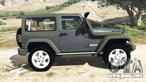 GTA 5 Jeep Wrangler 2012 v1.1 vista lateral izquierda
