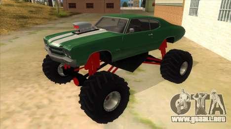 1970 Chevrolet Chevelle SS Monster Truck para GTA San Andreas