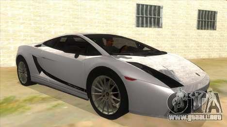 Lamborghini Gallardo 2012 Edition para GTA San Andreas vista hacia atrás