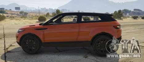 GTA 5 Range Rover Evoque 3.0 vista lateral izquierda