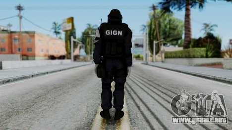 GIGN Gas Mask from Rainbow Six Siege para GTA San Andreas tercera pantalla