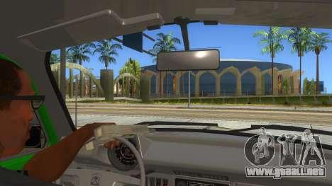 Volkswagen Beetle Pizza para visión interna GTA San Andreas