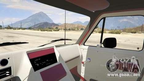 GTA 5 GMC Vandura (A-Team Van) vista lateral trasera derecha