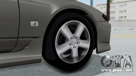 Nissan Silvia S15 Spec-R 2000 para GTA San Andreas vista posterior izquierda