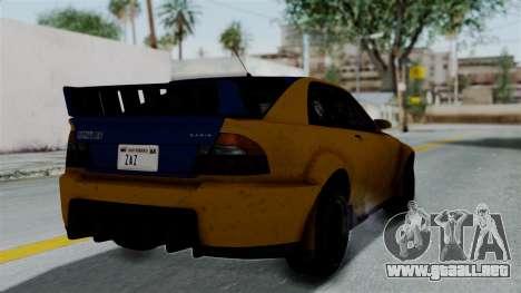GTA 5 Karin Sultan RS Rally PJ para GTA San Andreas left