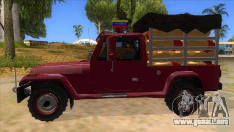 Jeep Pick Up Stylo Colombia para GTA San Andreas left