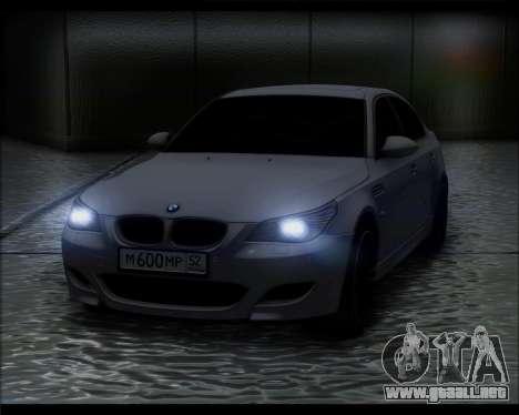 BMW M5 E60 para GTA San Andreas vista posterior izquierda