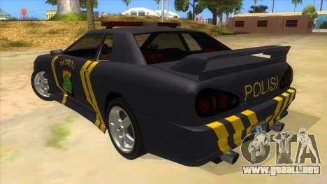 Elegy NR32 Police Edition Grey Patrol para GTA San Andreas vista posterior izquierda