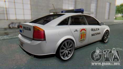 Opel Vectra 2005 Policia para GTA San Andreas vista posterior izquierda
