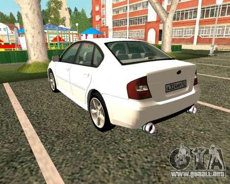 Subaru Legacy para GTA San Andreas vista posterior izquierda