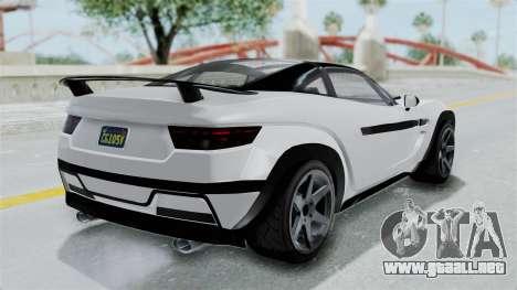 GTA 5 Coil Brawler Coupe para GTA San Andreas vista posterior izquierda