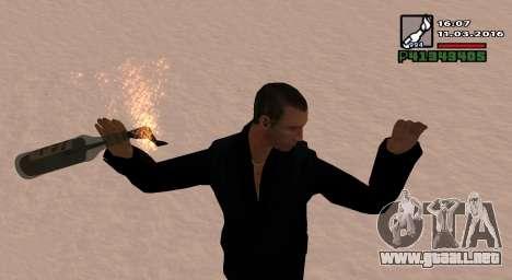 Un Cóctel Molotov para GTA San Andreas segunda pantalla