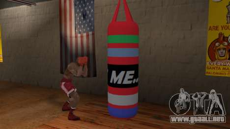 New Punching Bag para GTA San Andreas tercera pantalla