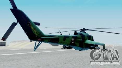 Mi-24V Afghan Air Force 112 para GTA San Andreas left