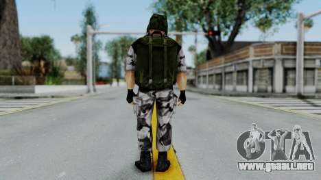 Shephard from Half-Life Opposing Force para GTA San Andreas tercera pantalla