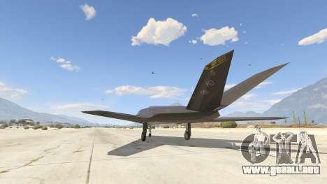 GTA 5 Lockheed F-117 Nighthawk Black 2.0 tercera captura de pantalla