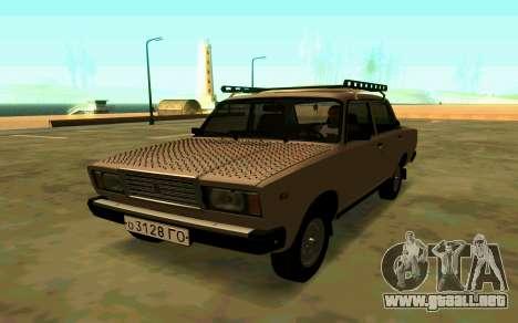 VAZ 2107 Invierno para GTA San Andreas