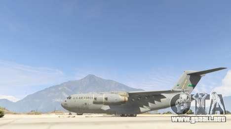 GTA 5 C-17A Globemaster III v.1.1 segunda captura de pantalla