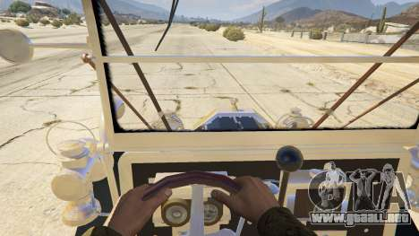 GTA 5 Ford T 1910 Passenger Open Touring Car vista trasera