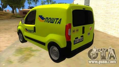 Fiat Fiorino para GTA San Andreas vista posterior izquierda