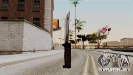 Batman Arkham City - Knife para GTA San Andreas segunda pantalla
