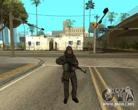 Ejército ruso Skin Pack para GTA San Andreas séptima pantalla