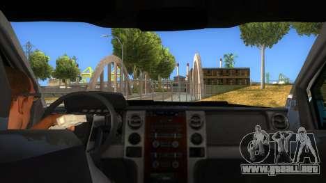 Ford F-150 2015 para visión interna GTA San Andreas