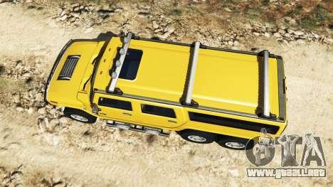 GTA 5 Hummer H2 6x6 v2.0 vista trasera