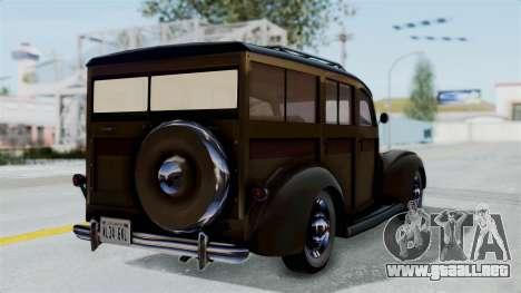 Lincoln Continental 1942 Mafia 2 v1 para GTA San Andreas left