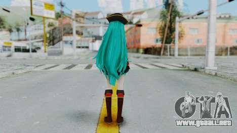 Hatsune Miku (Pirete) para GTA San Andreas tercera pantalla