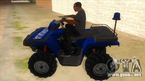 ATV Polaris Police para GTA San Andreas left