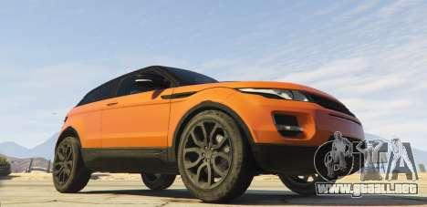 GTA 5 Range Rover Evoque 3.0 vista lateral izquierda trasera