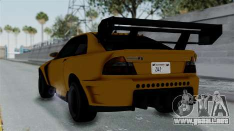 GTA 5 Karin Sultan RS Drift Big Spoiler PJ para GTA San Andreas left