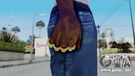 The King Knuckle Dusters from Ill GG Part 2 para GTA San Andreas tercera pantalla
