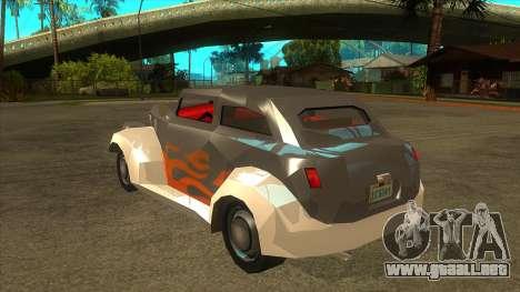 GTA LCS Thunder-Rodd para GTA San Andreas vista posterior izquierda