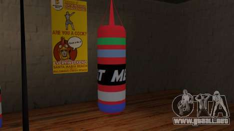 New Punching Bag para GTA San Andreas segunda pantalla